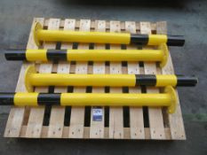 Qty of bollards and safety rails