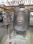 2010 Olympus Stainless Steel Jacketed Mixing Tank (c1.2m dia x 1.4m high)