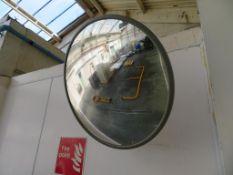 8 x Convex mirrors & a hemisphere mirror