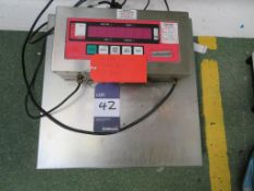 Stainless Steel Jacketed Weigh Platform with Digital Scale