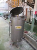 Stainless Steel Jacketed Holding Tank with Heating Element (c600mm dia X 1100mm deep)