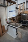 "Centauto 5600P Vertical Band Saw 23"" throat, serial number TR008807, year of manufacture 2005 ("