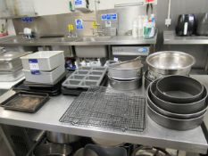 Quantity of Baking Trays, Cake Tins and Racks to Table Top