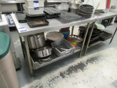 Stainless Steel Preparation Table with Undershelf 1200x650mm