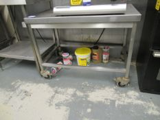 Mobile Stainless Steel Trolley 1000x600x740mm high