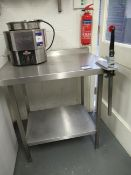Stainless Steel Preparation Table with Undershelf 900x650mm with Mechanical Tin Opener