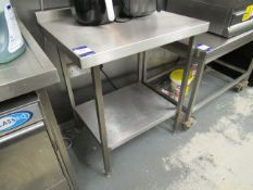 Stainless Steel Preparation Table with Undershelf 800x650mm