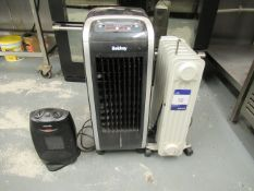 Beldray Electric Air Cooler, Oil Filled Radiator and Electric Fan