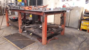 Steel Fabricated Welders Table (Clamps, Grinders and Mag Drill excluded)