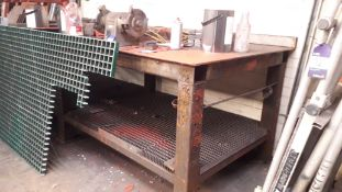 Steel Fabricated Welders Table (Bench Grinder not included)
