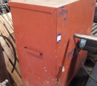 Mobile Steel Site Tool Chest and Cupboard