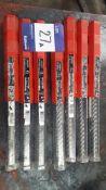 7 x various Hilti TE-YX Hammer Drill Bits