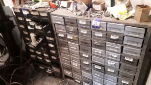 3 x Multi Drawer Chests with Quantity of Stainless Steel, Zinc and Galvanised Fittings