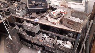 Tote Storage Unit with Galvanised Steel Tote Pans with Quantity of Key Clamp Fittings