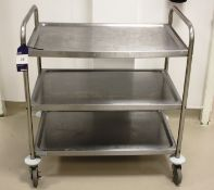 Stainless Steel Mobile 3 Tier Trolley
