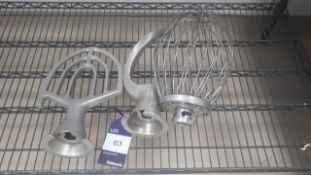 Whisk, Dough Hook and Mixing Blade (Fits lot 49)