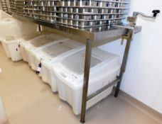 Stainless Steel Bench with Can Opener 2400 x 650