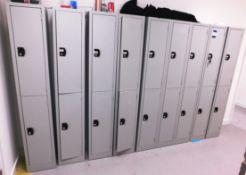 9 x Grey Steel Double Lockers
