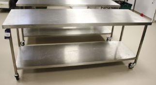 Stainless Steel Two Tier Bench 2100 x 700 (Mobile)