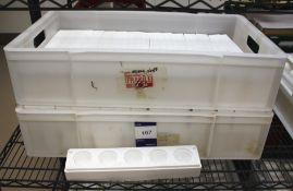Approx. 48 White Silica Moulds, 5 Section