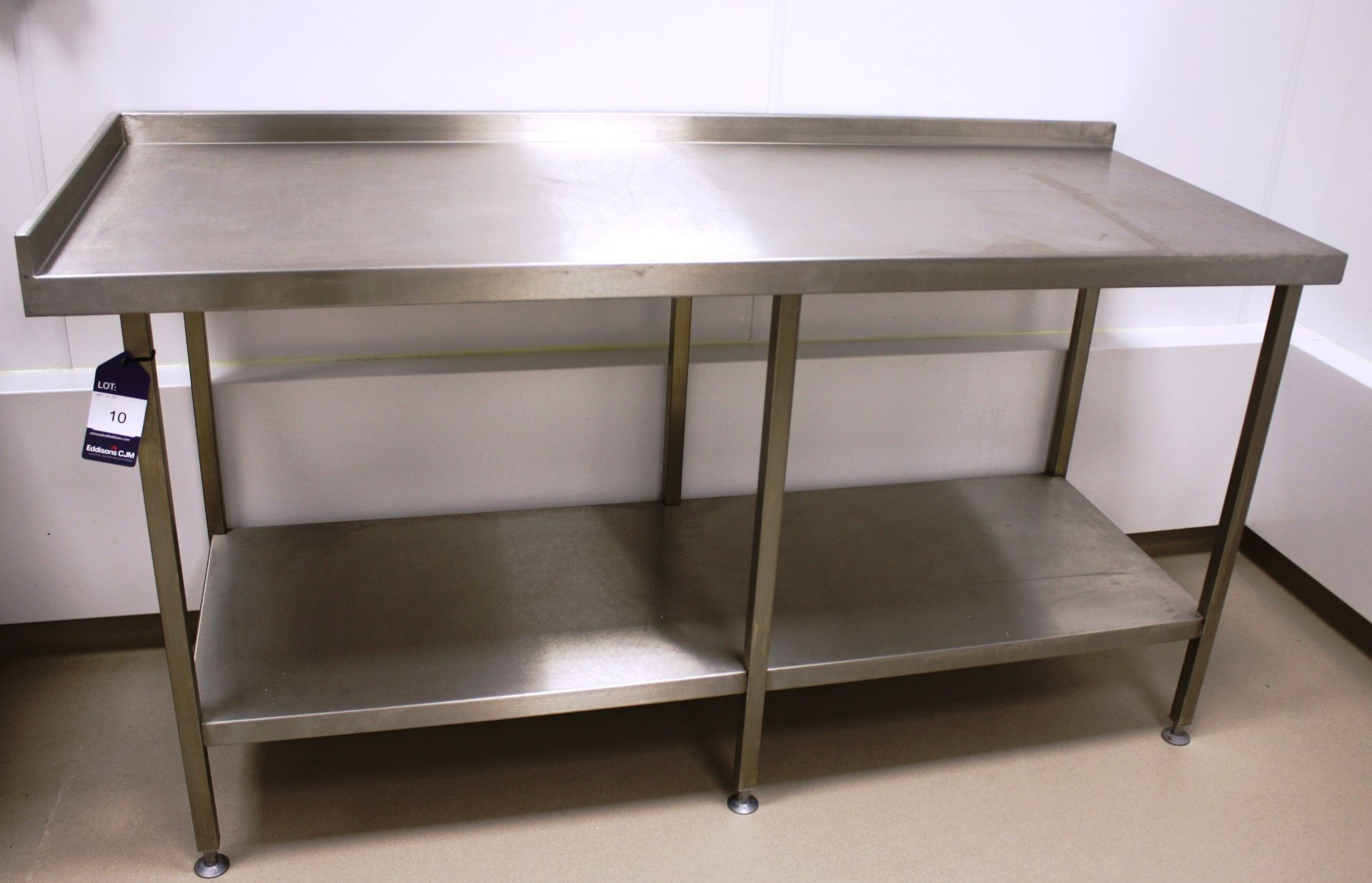 Lot 10 - Stainless Steel Two Tier Bench 1800 x 700