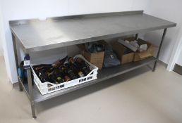 Stainless Steel Bench (Contents not included) 2300