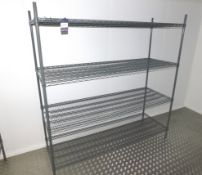 5 x Adjustable Wire Racks Approx. 1800 x 500mm