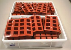 Approx. 44 x Red Silica Cube Moulds