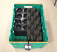 Approx. 22 Assorted Black Silica Moulds