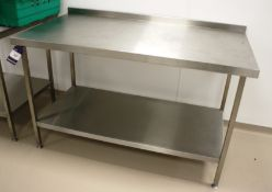 Stainless Steel Bench 1500 x 800