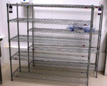 2 x Adjustable Wire Racks 1500 x 450