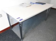 White Laminate Table