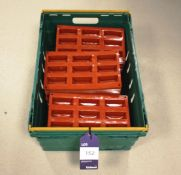 Red Silica Moulds in Basket (Approx. 68 Total)