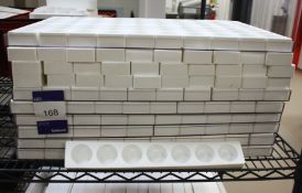 Approx. 101 White Silica Moulds, 7 Section