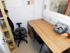 Desk, Two Chairs and Bookcase