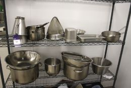 Pots & Pans Over Two Shelves