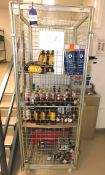 Stock of Liquers to Cage and Crate of Magners and