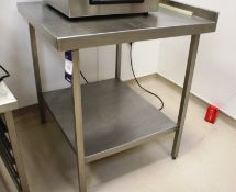 Stainless Steel Two Tier Bench 800 x 780
