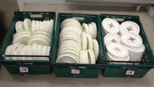 Two Piece Bubble Crown White Silica Moulds to 3 x