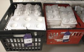 Approx. 50 White Silica Moulds to 2 Crates