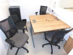 Office Furniture Comprising 3 x Desks, 3 x Pedesta