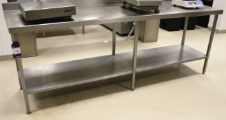 Stainless Steel Two Tier Bench 2340 x 650