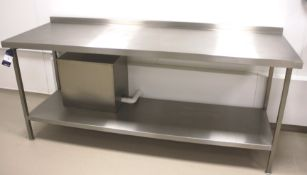 Stainless Steel Two Tier Bench 2100 x 700