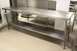 Stainless Steel Two Tier Bench 2400 x 650