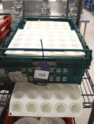 Approx. 28 White Silica Stone Moulds 15 Section