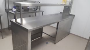 Stainless Steel Counter with Gantry 2500 x 750 (Fr
