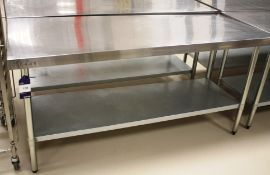 Vogue Stainless Steel Two Tier Bench 1800 x 700