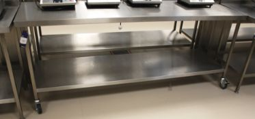 Stainless Steel Two Tier Bench 2260 x 700 (Mobile)