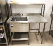 Stainless Steel Two Tier Bench with Gantry and Dee