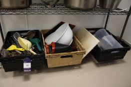 Cooking Utensils, Mats etc. in 3 x Baskets